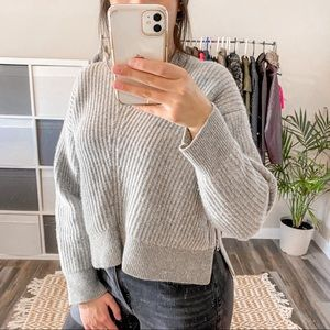 Acne Studios Grey Wool Crew Neck Sweater Size Small